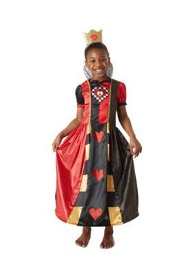 Disney Alice in Wonderland Queen of Hearts Fancy Dress Costume Black/Red 3-4 years