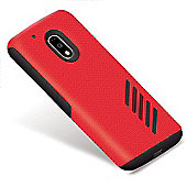 Orzly Grip-Pro Case for Moto G4 /G4 Plus - RED