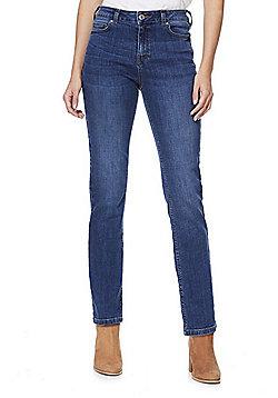 F&F Mid Rise Slim Leg Jeans - Mid wash