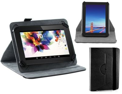 """Navitech Black Faux Leather Hard Case Cover With 360 Rotational Stand For The All-New Fire HD 10 Tablet with Alexa Hands-Free, 10.1"""""""