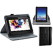 Navitech Black Faux Leather Hard Case Cover With 360 Rotational Stand For The All-New Fire HD 10 Tablet with Alexa Hands-Free, 10.1""