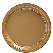 Gold Plates - 23cm Paper Party Plates - 50 Pack