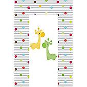 Babywise Baby Changing Mat - Giraffe & Friends (Green & Orange)