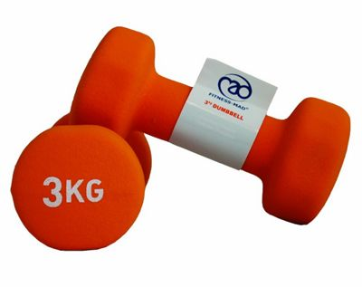 Yoga Mad Fitness Mad Neo Dumbbell Pair 2 x 3Kg