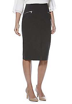 F&F Ponte Pencil Skirt with As New Technology - Grey