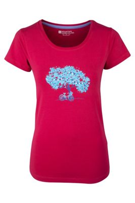 Summer Tree Womens Printed Breathable Lightweight Short Sleeved Cotton T-Shirt