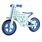RideStar Pattern Wooden Balance Bike - Blue