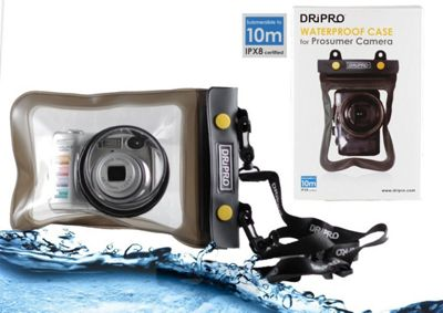 Navitech Black Waterproof Underwater Housing Case Dry Bag For The Canon IXUS 145 / Canon PowerShot SX710 HS
