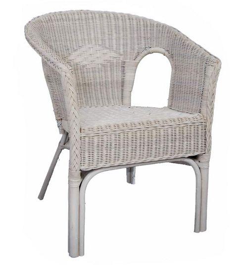 Wicker Valley Rattan Chair in White