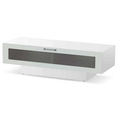 buy high gloss white tv stand for up to 50 inch tvs from our tv stands units range tesco. Black Bedroom Furniture Sets. Home Design Ideas