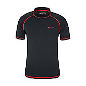 Mens Rash UV Protection Vest Swimming Diving Surfing Top - Black