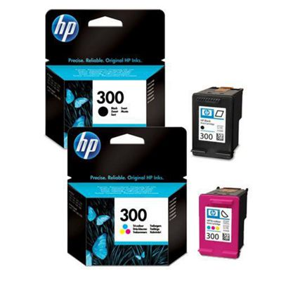 Hewlett-Packard 8 ml Original Ink Cartridges for HP Deskjet D2500 Printer - Black+Tri-Colour