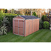 Palram Skylight Amber Plastic Shed, 6x12ft