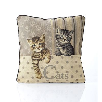 Alan Symonds Tapestry Cats Cushion Cover - 45x45cm