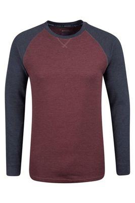 Mountain Warehouse Waffle Long Sleeve Round Neck Mens T-Shirt ( Size: S )