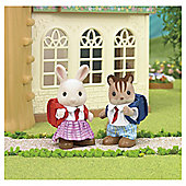 Sylvanian Families School Friends Milk Rabbit & Ralph the Walnut Squirrel