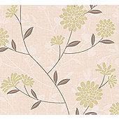 Superfresco Botanic Floral Brown/Green Wallpaper