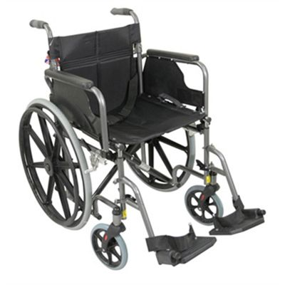 Deluxe Self Propelled Steel Wheelchair - Hammered Effect