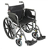 Deluxe Self Propelled Steel Wheelchair - Hammered Effect