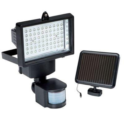 60 LED Solar PIR Motion Sensor Security Floodlight Lamp Garden Outdoor Light
