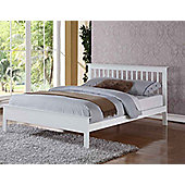 Ultimum Pentre Double 4ft 6 Bed White Finish