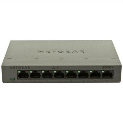 NETGEAR - Gigabit Ethernet 10/100/1000 Mbps 8 port Switch 200 series (metal case)