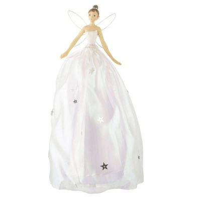 White Christmas Fairy Tree Topper