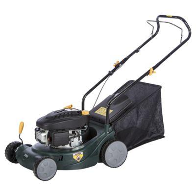 Tesco 98.5cc Hand Push Petrol Rotary Lawn Mower