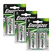 6 x Energizer ACCU Rechargeable D Cell NiMh Batteries (2500mAh)