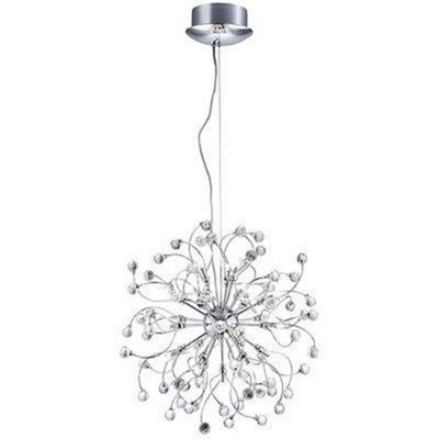 SONJA CHROME 24 LIGHT PENDANT WITH CRYSTAL BALLS