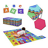 Homcom 36pcs Soft Play Mat Baby Interlocking EVA Foam Puzzle Indoor Outdoor Floor