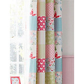 Canterbury Patchwork Eyelet Curtains 72s