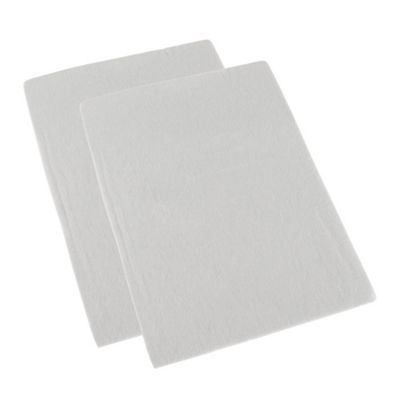 Homescapes White Brushed Cotton Fitted Pram Sheet Pair 100% Cotton, 30 x 73 cm