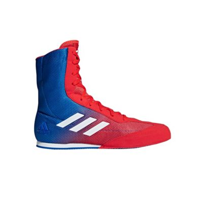 adidas Box Hog Plus Mens Boxing Trainer Shoe Boot Red/Blue - UK 8