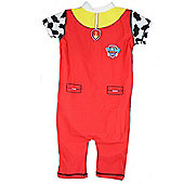 Paw Patrol Marshall Boys 50+ UV Protection Swimming Suit Costume - Red