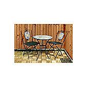 Kingfisher Mosaic Bistro Garden Furniture Set - Black