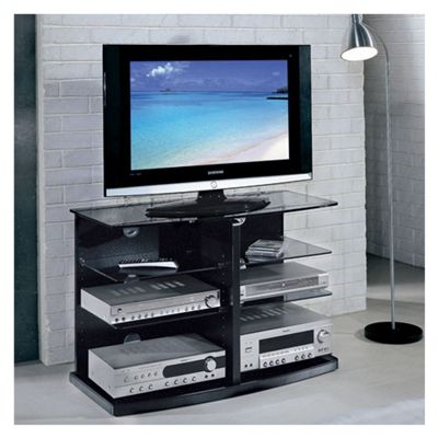 Triskom Glass TV Stand for LCD / Plasmas - Black