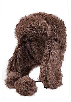 Greenland Womens Faux Fur Stalker Hat - Brown