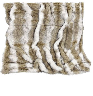 Brown Sable Faux Fur Throw Blanket Sofa Bedroom Decor