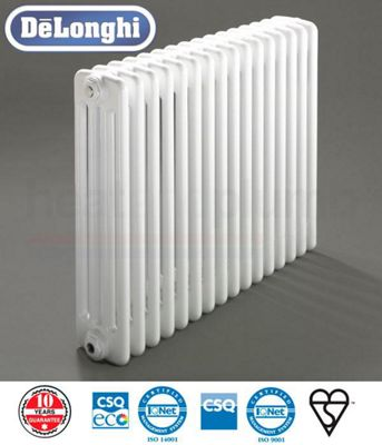 Delonghi 4 Column Radiators - 750mm High x 1406mm Wide - 30 Sections