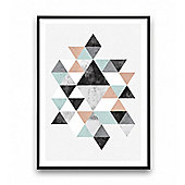 Cult Living Geometric Graphic Triangle Art Print Multi