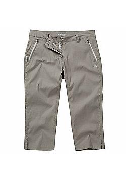 Craghoppers Ladies Kiwi Pro Stretch Capri II Pant - Grey