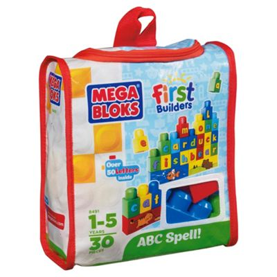 Mega Bloks First Builders Build n Learn ABC spell