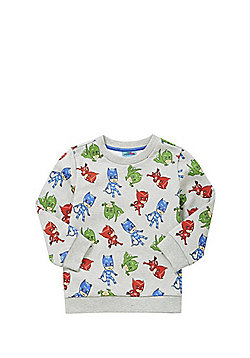 PJ Masks Allover Print Sweatshirt - Grey marl