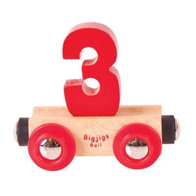 Bigjigs Rail Rail Name Number 3 (Red)