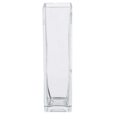 Tesco Rectangle Vase Clear