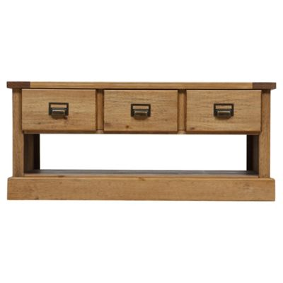 Portobello Coffee Table   3 Drawer, Rustic Pine