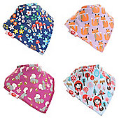 Zippy Baby Girl Bandana Dribble Bib 4 pack Woodland Girls