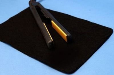 Buy Heat Resistant Straightening Iron Protection Mat Black from our