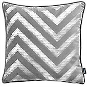 Rocco Strata Grey Cushion Cover - 43x43cm
